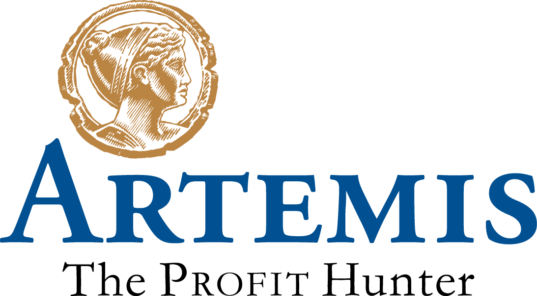 Fig. 1: The Artemis logo, with the bronze coin featuring Artemis, the Greek goddess of the hunt